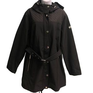 Michael Kors Belted Rain Jacket (PM168)